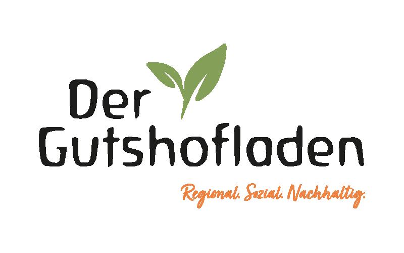 Bild zeigt das Logo des Gutshofladens mit dem Zusatztext regional, sozial, nachhaltig.
